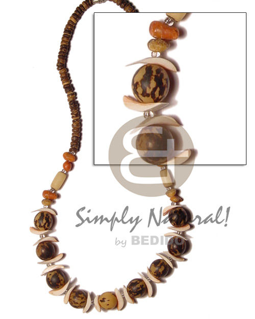 Buri tiger bead lihuanus Teens Necklace