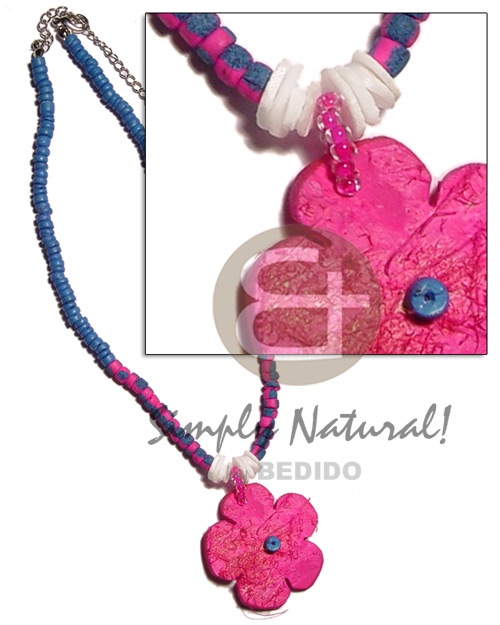 Pink 4-5mm coco pokalet. splashing Teens Necklace