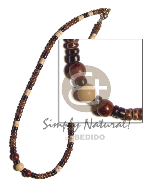 Brown black bleach 4-5mm coco pokalet Teens Necklace