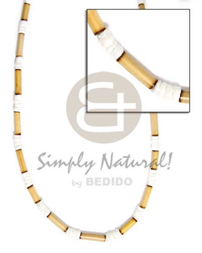 2-3mm natural bamboo tube Tribal Necklace