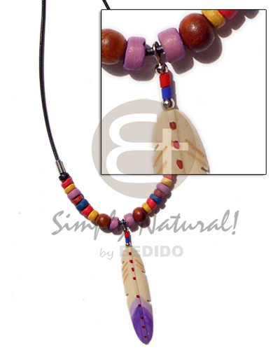 Wax cord coco pukalet Tribal Necklace