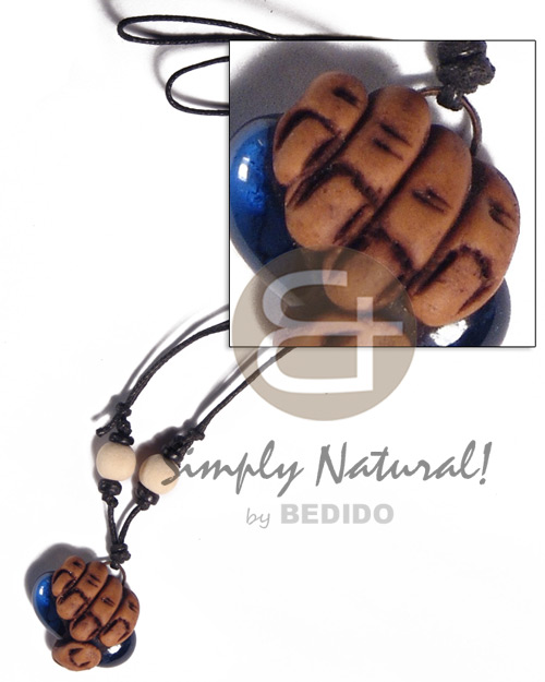 25mm clay fingers Tribal Necklace