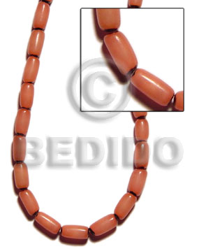 Buri tube-orange Tube Seeds Beads