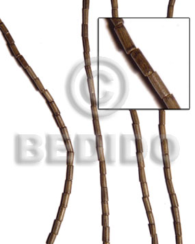 Greywood heishe 2x5mm Tube & Heishe Wood Beads