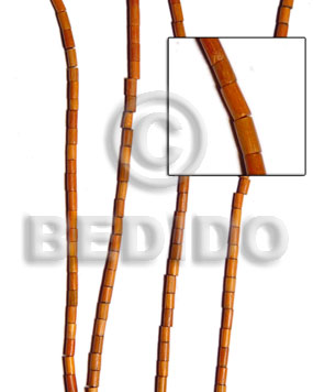 redwood heishe 2x5mm - Tube & Heishe Wood Beads
