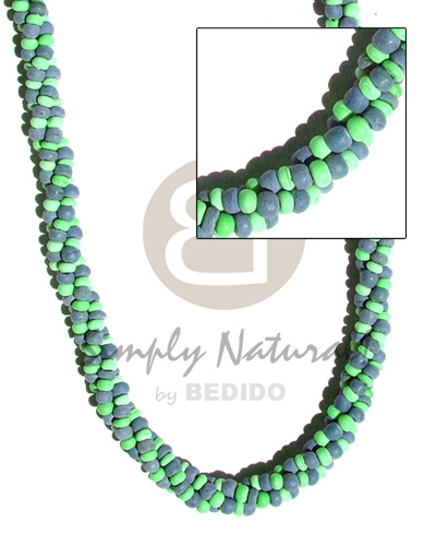 3 layers twisted 2-3mm Twisted Necklace