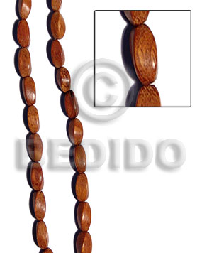 bayong twist 10mmx27mm - Twisted Wood Beads