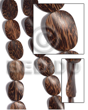 hand made 25mmx36mmx6mm patikan old palmwood twisted Twisted Wood Beads