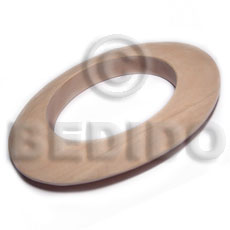 Wholesale Raw Natural Wooden Blank Bangle Casing Only / Ht=12Mmm  / Size= 92Mmx110Mm / Inner Diameter = 70Mm - Unfinished Plain Wooden Bangles
