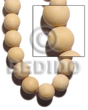 hand made Natural white wood round beads Unfinished Wood Beads