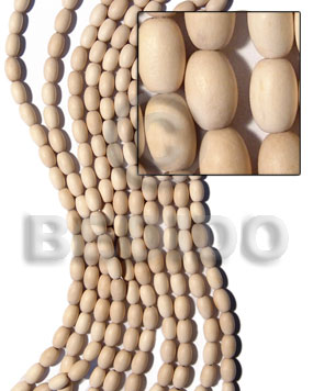 nat. white wood oval 8x10mm - Unfinished Wood Beads