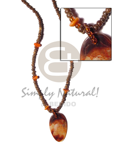 2-3mm coco pokalet corals Unisex Necklace
