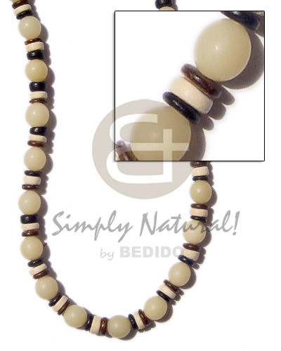 White buri beads seed beads Unisex Necklace