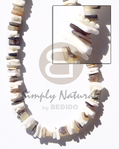 hand made White rose hammershell natural Unisex Necklace