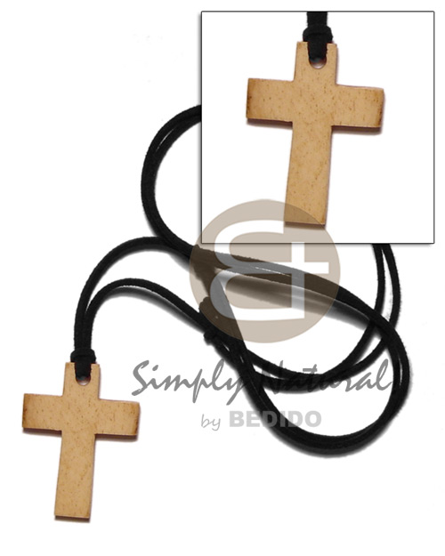hand made Carabao antique natural bone cross Unisex Necklace