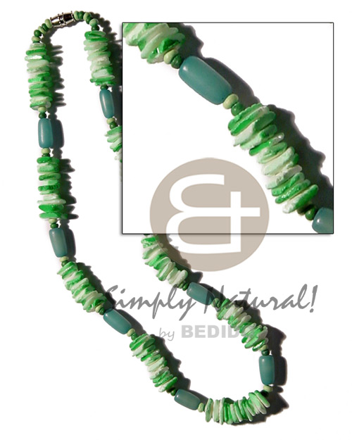 Buri seed tube colored Unisex Necklace