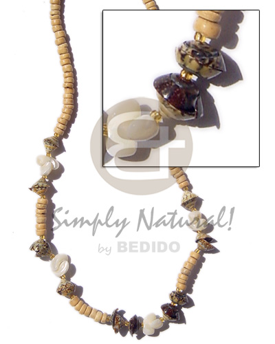 4-5 coco pukalet natural Unisex Necklace