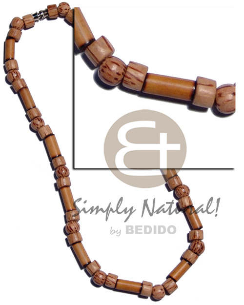 Bamboo tube burning tip Unisex Necklace