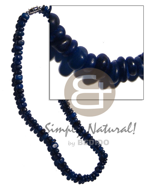 hand made Blue carabao horn nuggets Unisex Necklace