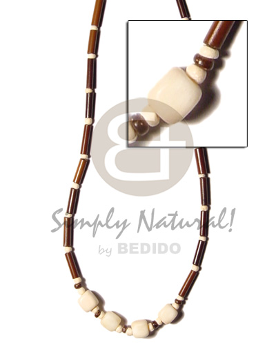 Eureka bamboo tube coco pokalet bleach Unisex Necklace