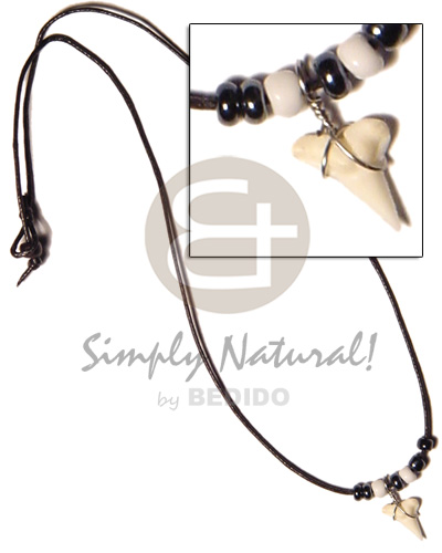 Cord hematite beads and Unisex Necklace