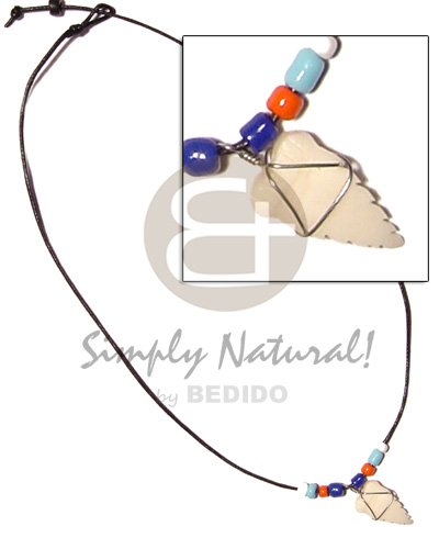 Cord beads coco pokalet and Unisex Necklace