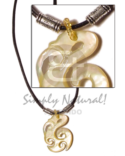 Celtic mop in wax cord Unisex Necklace
