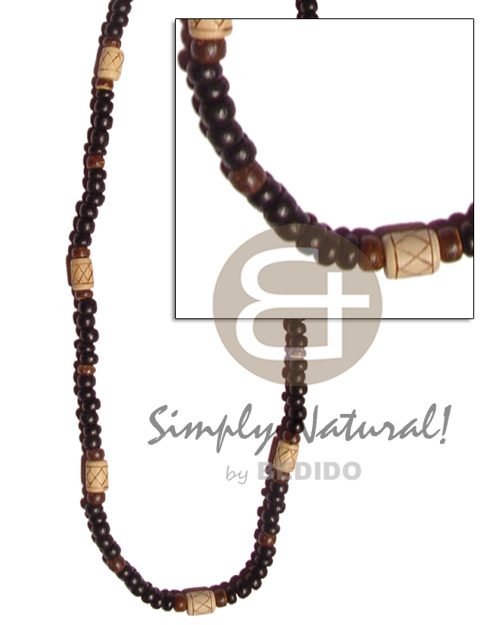 4-5mm coco pokalet black brown Unisex Necklace