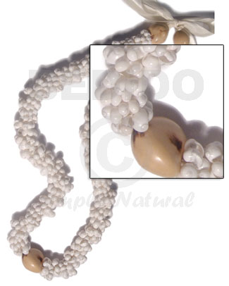 White mongo shell rings Womens Necklace