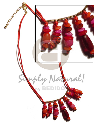 Dangling asstd. buri seeds Womens Necklace