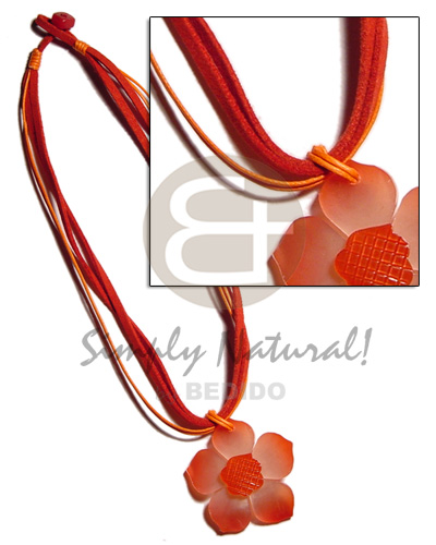 4 layer red orange Womens Necklace