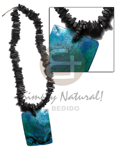 Black 12mm coco stick Womens Necklace