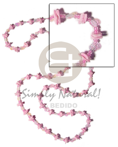 36 in. continuous pastel pink Womens Necklace