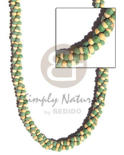 hand made 3 layers twisted 2-3mm Womens Necklace