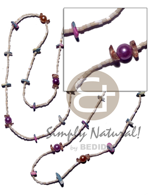 Glass beads pearl beads Womens Necklace