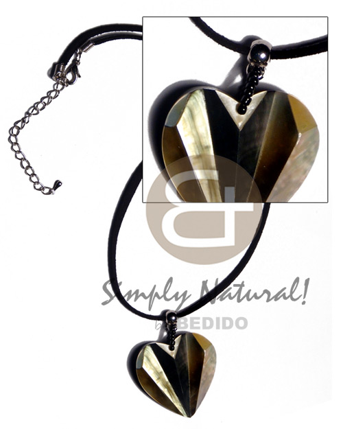 36mmx32mm laminated blacklip mop combination accordion Womens Necklace