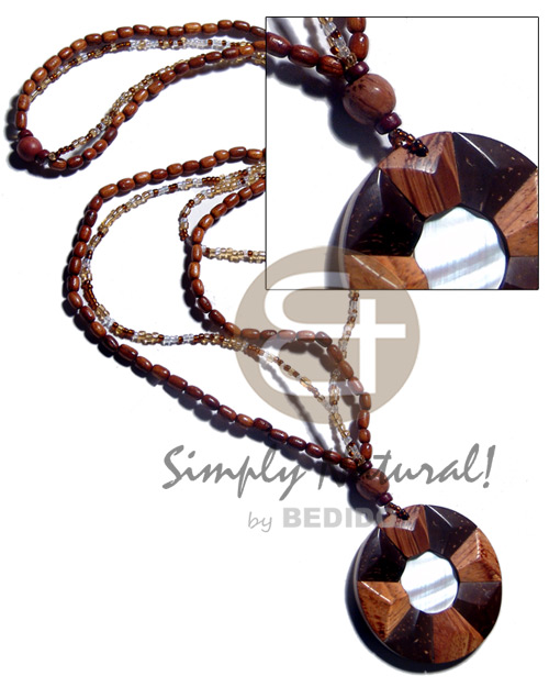 2 layers lacquered bayong ricebeads Womens Necklace