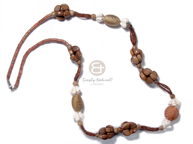 hand made 4-5mm coco heishe robles Womens Necklace