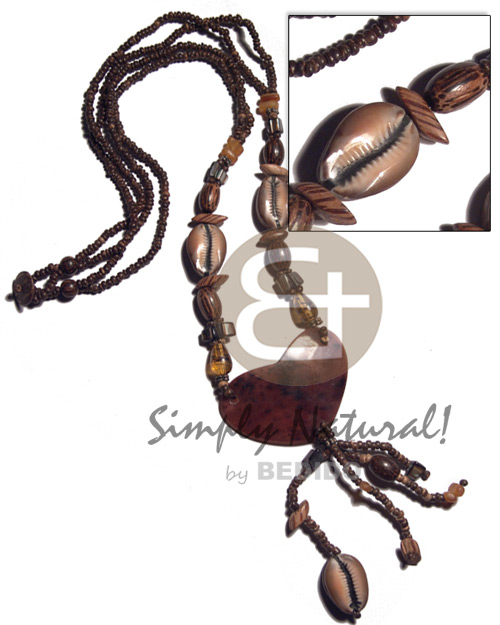 2 layers 2-3mm coco natural Womens Necklace