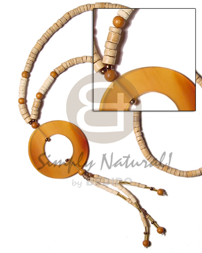 hand made 4-5 coco heishe nat wood Womens Necklace