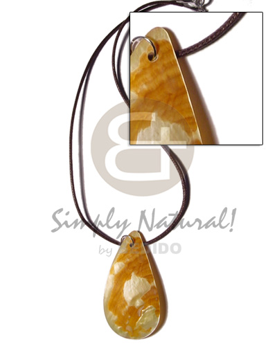Cord 35mm teardrop mop Womens Necklace