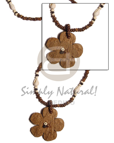 2-3 coco pokalet brown Womens Necklace