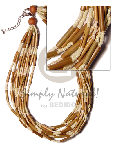 12 layer bamboo tube Womens Necklace