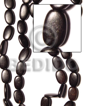 camagong flat oval 12x20mm - Wood Beads