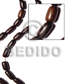 oval black camagong 10x15mm - Wood Beads