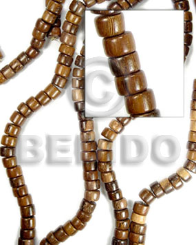 robles pokalet 4x7mm - Wood Beads