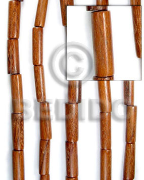 Bayong tube 11mmx25mm Wood Beads