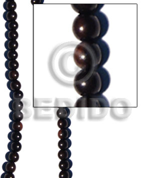 tiger camagong round beads 8mm - Wood Beads