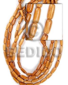 bayong oval wood 10x20mm - Wood Beads