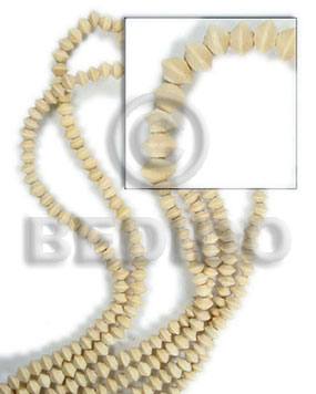 natural white wood mentos 5x8mm - Wood Beads